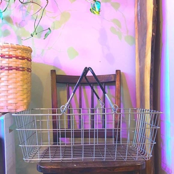 Vintage metal shopping basket